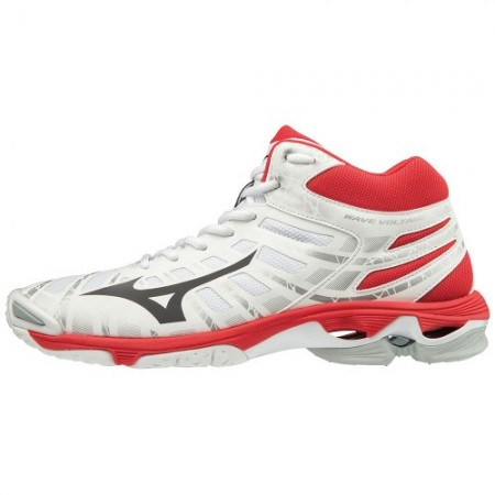 MIZUNO WAVE VOLTAGE MID WHITE - RED