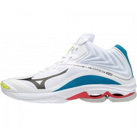 MIZUNO WAVE LIGHTNING Z6 MID WHITE/BLACK/DIVA BLUE