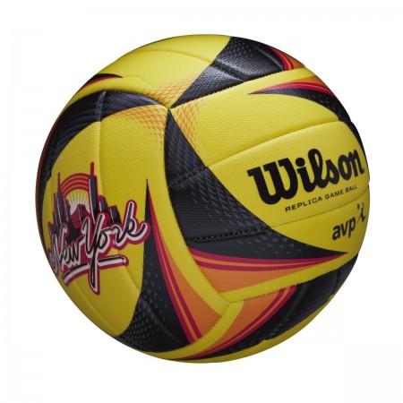Μπάλα beach volley WILSON AVP REPLICA NYC (μαύρο κίτρινο πορτοκαλί) (WTH01120 XB)