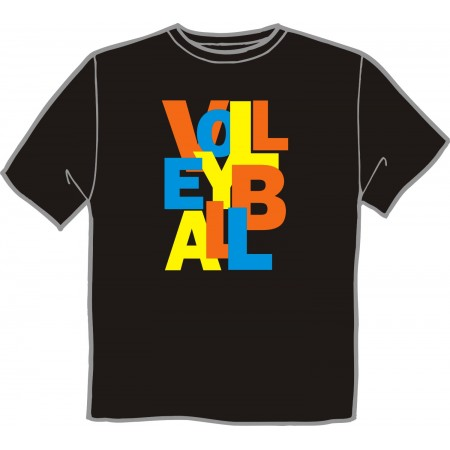 T-Shirt VOLLEYBALL TEXT
