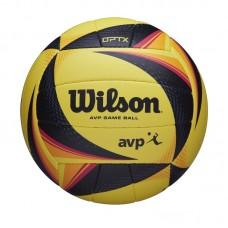 Μπάλα beach volley WILSON OPTX AVP OFFICIAL GAME BALL (Μαύρο/Κίτρινο/Πορτοκαλί) (WTH00020XB)